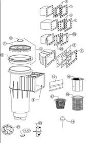 Pentair Skimmer Lock down lid - Black # 85007411