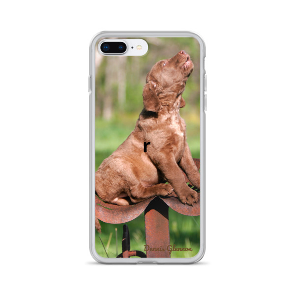 """Howling Chessie Pup"" Chesapeake Bay Retriever iPhone Case"
