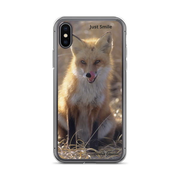 """Not So Sly Smile"" Red Fox iPhone Case - ""Just Smile Collection"" Red Fox - Island Beach State Park, New Jersey"