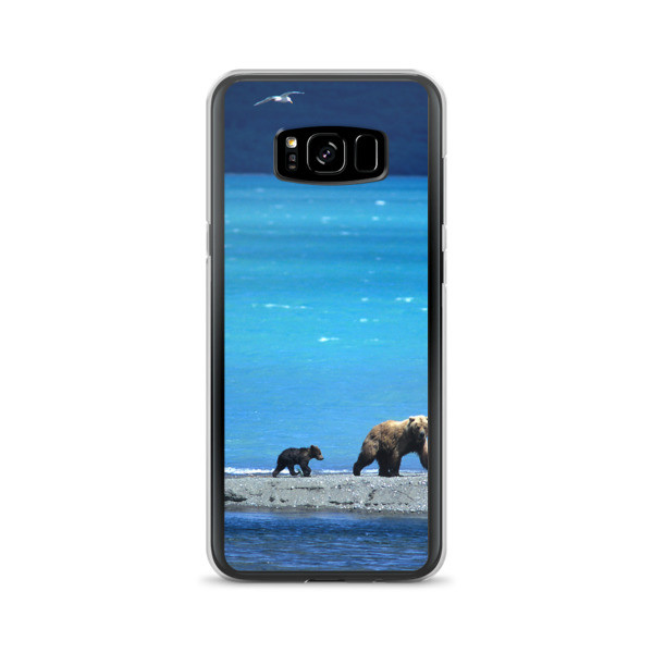 """Beach Lover Grizzly Bears"" Samsung Phone Case - Katmai, Alaska"