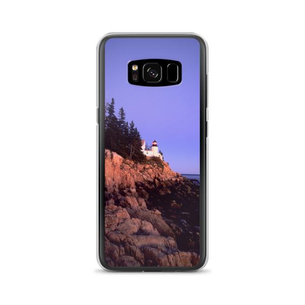 """Lighthouse at Sunset"" Samsung Phone Case - Bass Harbor Head, Acadia National Park, Maine"