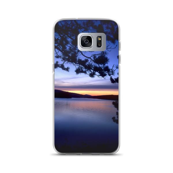 """Blue Lagoon"" Lake Sunset Samsung Phone Case - Baxter State Park, Maine"