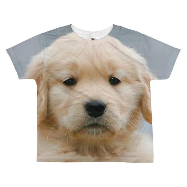 """""""Golden Cuteness"""" Kid's All-Over T-shirt Golden Retriever Puppy"""