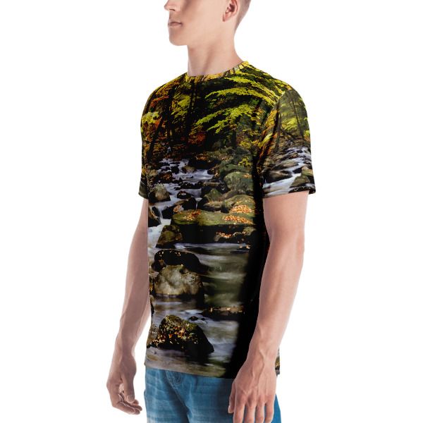 """Ex-Stream"" Camouflage Men's  All Over T-Shirt - Hiking Harriman State Park, New York"