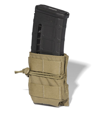 ATS Tactical Gear Short-Single M4 Magazine Pouch in Coyote Brown
