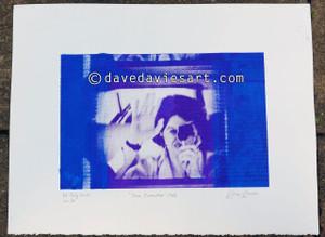 """DAVE REFLECTION 1965"" - purple/blue silkscreen  No.10 of 23"