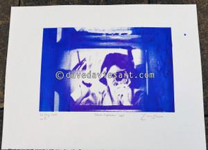 """DAVE REFLECTION 1965"" - purple/blue silkscreen  No.5 of 23"