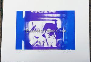 """DAVE REFLECTION 1965"" - purple/blue silkscreen  No.18 of 23"