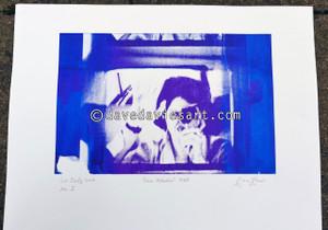 """DAVE REFLECTION 1965"" - purple/blue silkscreen  No.1 of 23"