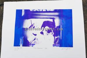 """DAVE REFLECTION 1965"" - purple/blue silkscreen  No.2 of 23"