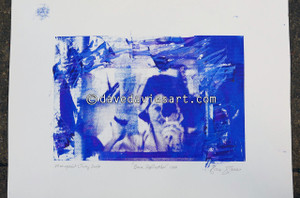 """DAVE REFLECTION 1965"" - purple/blue silkscreen  Monoprint 1"