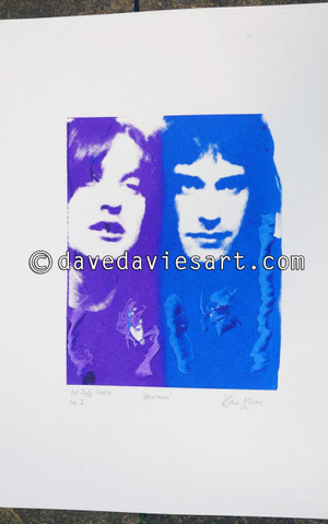"""""""BROTHERS"""" - purple/blue silkscreen  No.1 of 30   SOLD!!"""