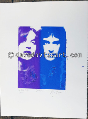 """""""BROTHERS"""" - purple/blue silkscreen No.2 of 30 - SOLD !!"""