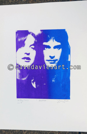 """BROTHERS"" - purple/blue silkscreen  No.6 of 30"