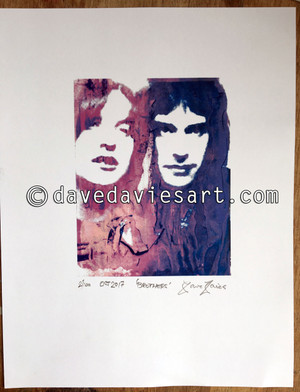 """BROTHERS"" - BLUE/PURPLE GICLEE PRINT - prints No. 2 to 100"