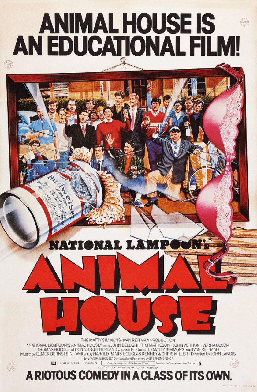 Animal House British Poster Art 1978. ??Universal Pictures ...