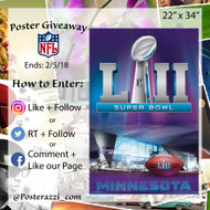 Super Bowl LII Poster Giveaway