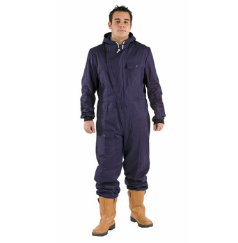 Cotton Inspection Suit With Hood