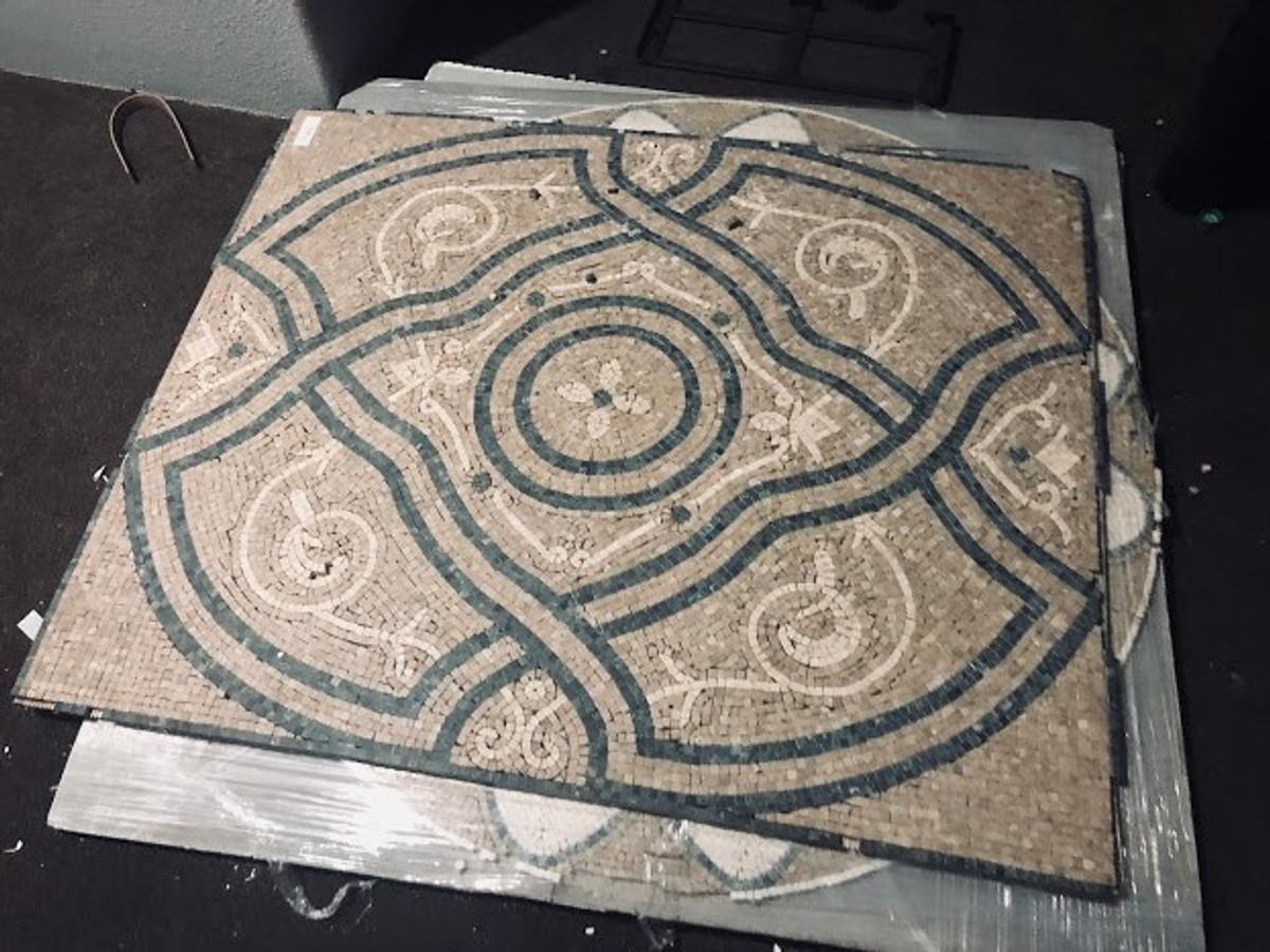 Travertine Tile Murals Boneyard Closeout Tiles - Closeout travertine tile
