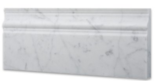 Carrara Polished 4x12 Basemolding
