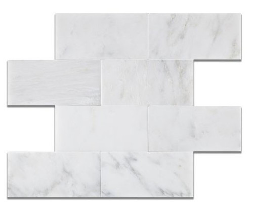 Ocean White 3x6 Honed or Polished
