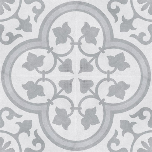 "Cuban Silver Ornate 9""x9"" Tiles"