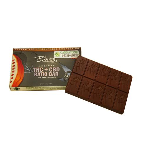 Bhang Cannatonic Chocolate 120mg CBD/ 40 mg THC