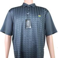 Masters Tech Golf Polo - Black & Light Grey Pattern