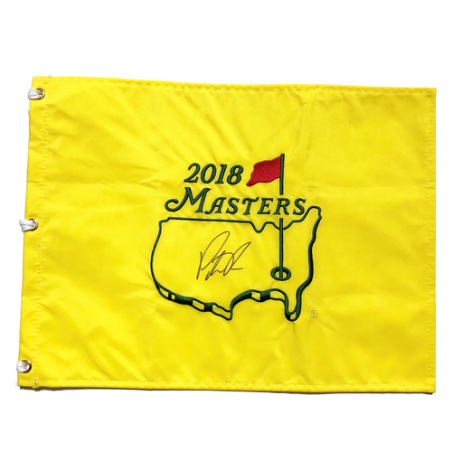 Masters 2018 Champion Patrick Reed Signed Pin Flag JSA Authenticated