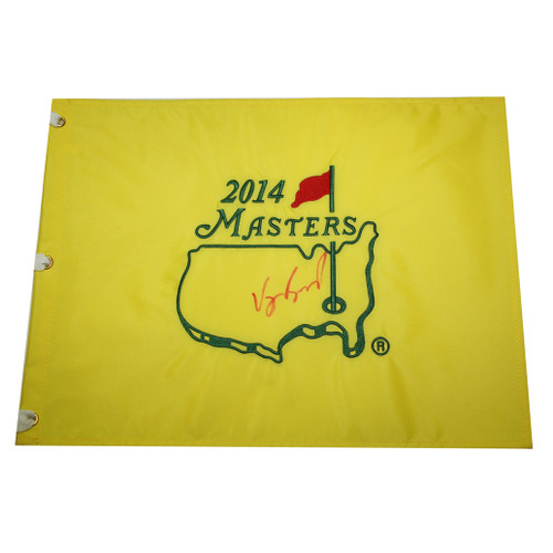 Vijay Singh Autographed 2014 Masters Golf Embroidered Pin Flag