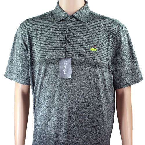 Masters Tech Golf Polo- Heathered Grey Pattern