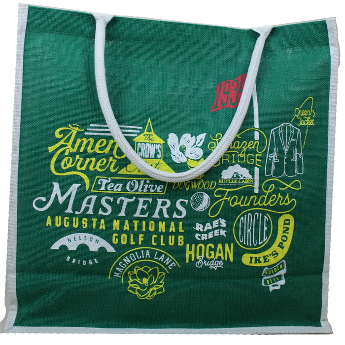 Masters Green Collage Jute Bag