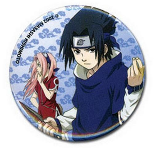 Naruto Sasuke and Sakura Button Pin GE-7617