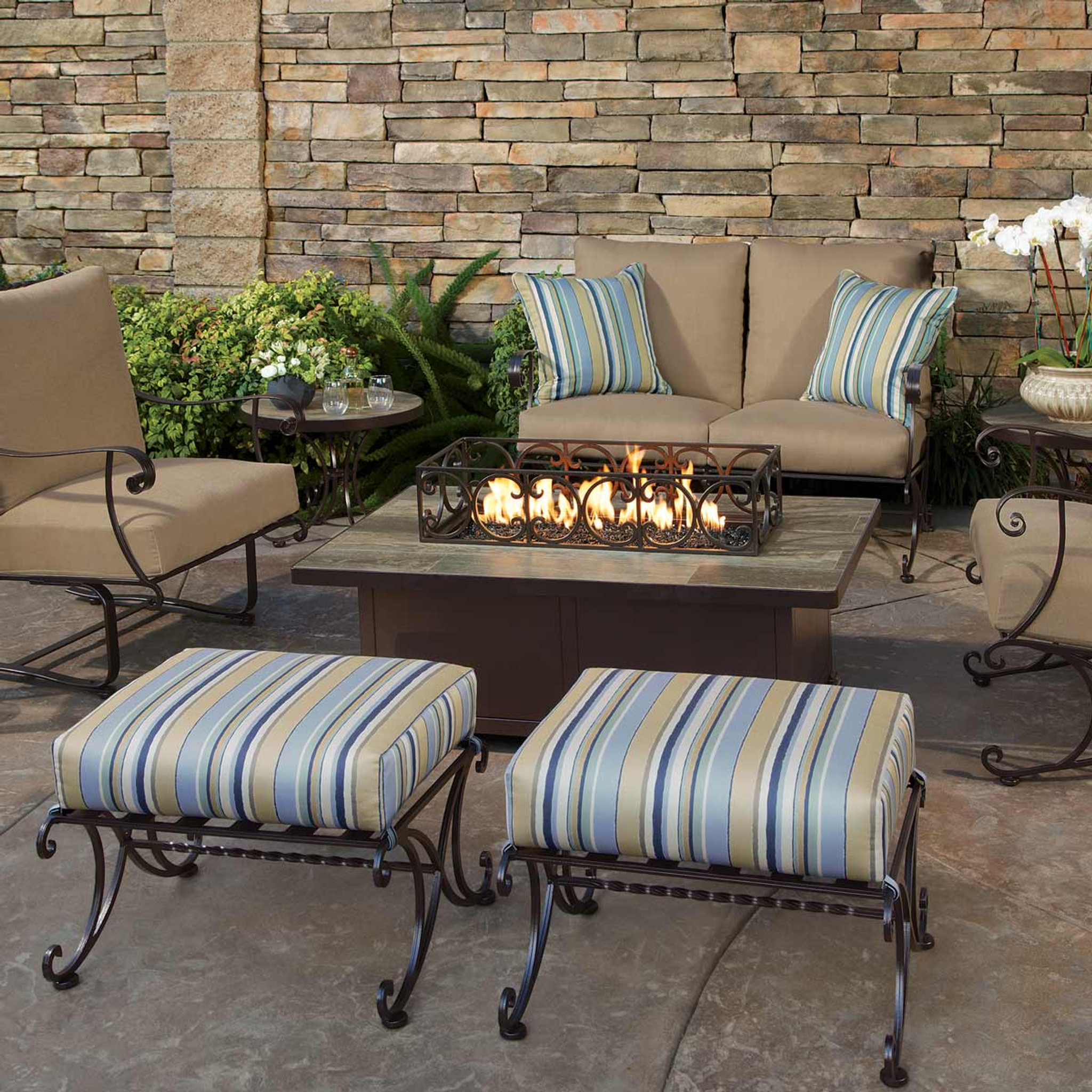 Santorini 30in X 50in Occasional Height Fire Pit By Ow Lee