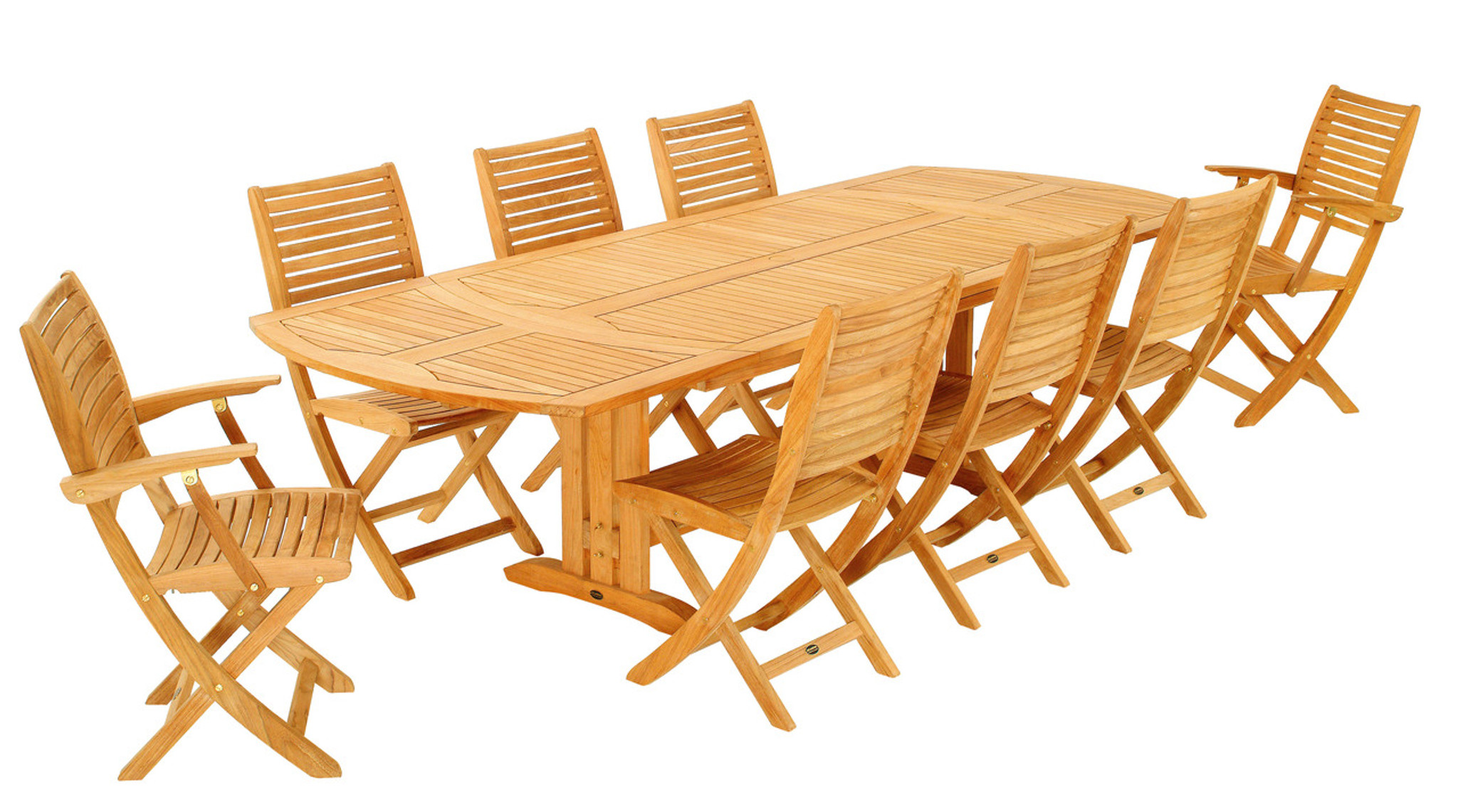 - Les Jardins Sillage Teak Extension Dining Table