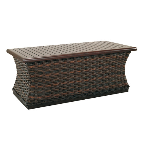 Catalina 48in Woven Rectangular Coffee Table
