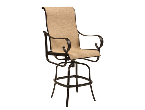 Santa Barbara Sling Swiveling Counter Stool