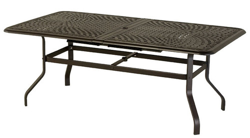 Waverly 76in Expandable Aluminum Dining Table