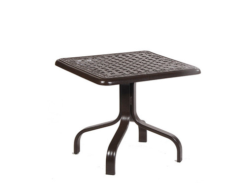 Waverly 24in Square Aluminum End Table
