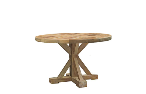 Modena Teak 48in Round Dining Table