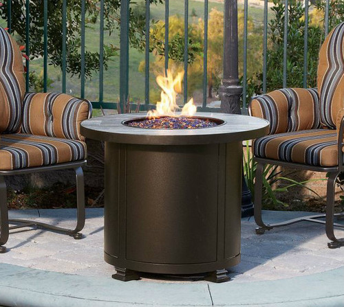 """Santorini 30"""" Round Chat Height Fire Pit"""
