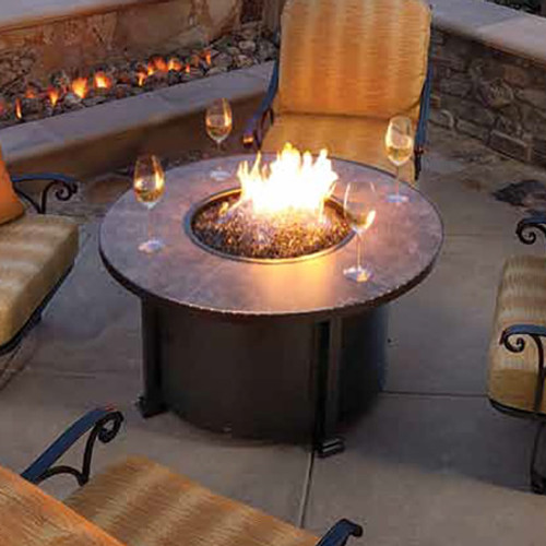 """Santorini 42"""" Round Chat Height Fire Pit"""