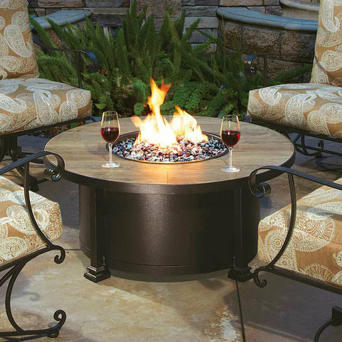 Santorini 42in Round Occasional Height Fire Pit