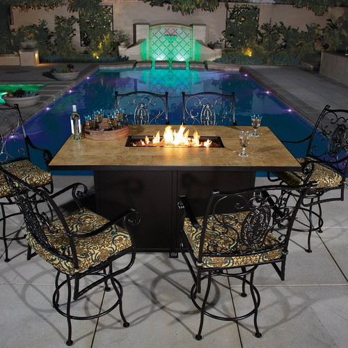 "Santorini 42"" x 72"" Counter Height Fire Pit"