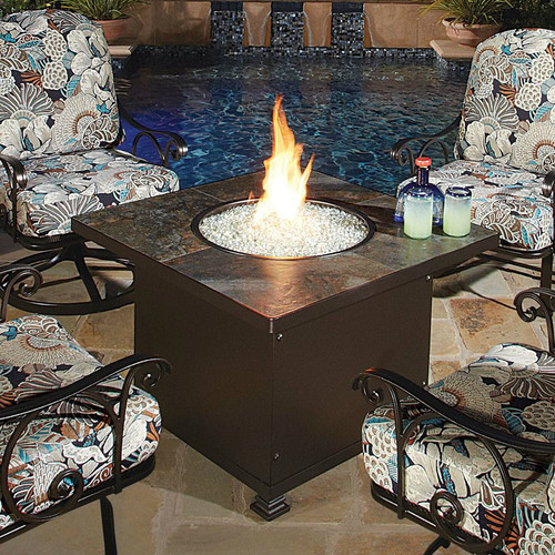 """Santorini 48"""" Square Chat Height Fire Pit"""