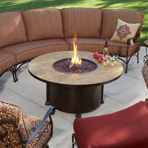 """Santorini 54"""" Round Chat Height Fire Pit"""
