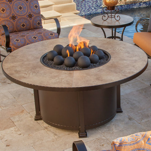 Santorini 54in Round Chat Height Fire Pit