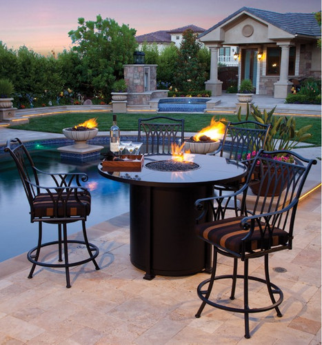 Santorini 54'' Round Counter Height Fire Pit