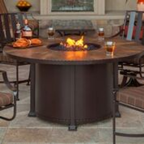 """Santorini 54"""" Round Dining Height Fire Pit"""