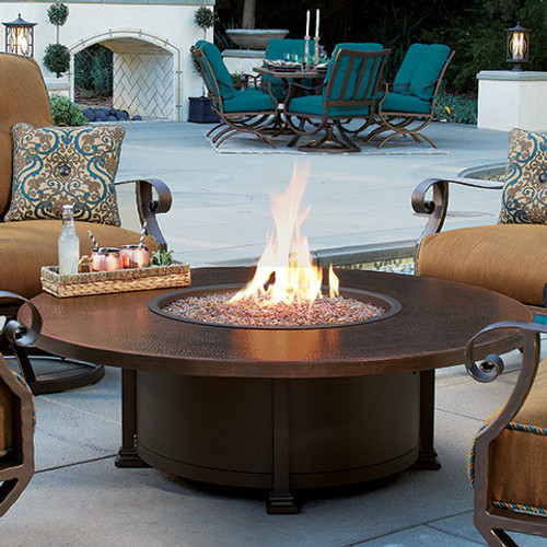 """Santorini 54"""" Round Occasional Height Fire Pit"""